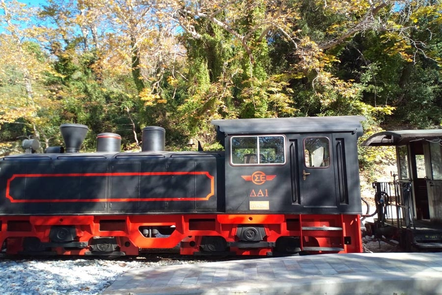 Tour with the traditional train of Pelion